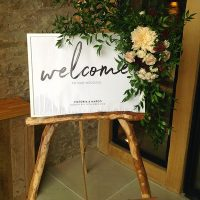 Beamsley Blooms Welcome sign