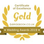 Gold Certificate of Excellence Wedding Awards